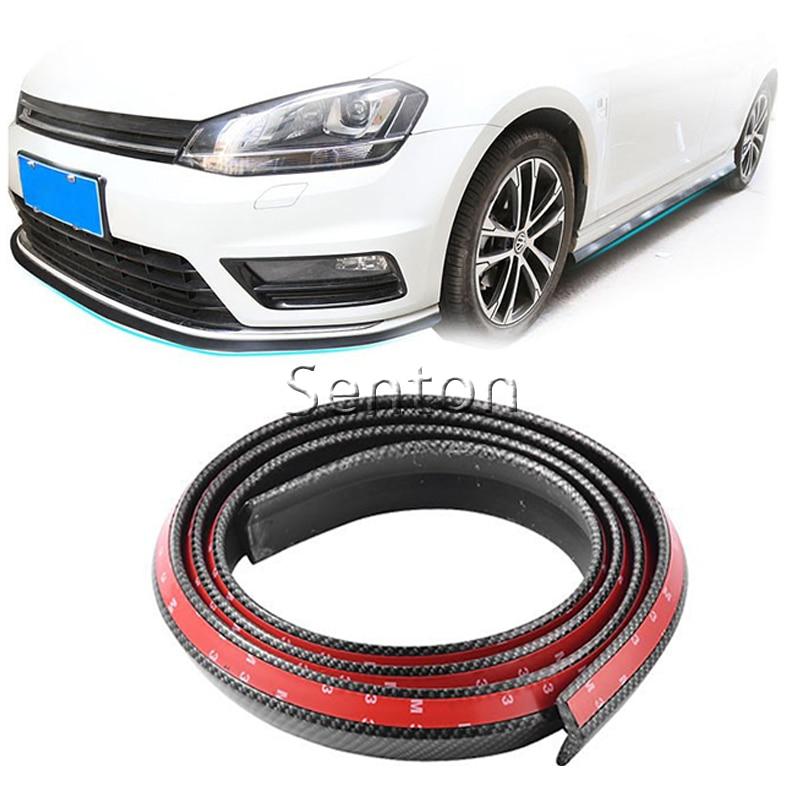 Car Carbon Fiber Front lip 2.5M For Hyundai Solaris Tucson 2016 I30 IX35 I20 Accent Santa Fe For Lada Granta Kalina Priora no o ring turbos td025 49173 02412 49173 02410 28231 27000 for hyundai elantra santa fe trajet tucson kia carens ii 2 0 crdi