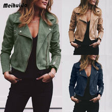 AU Women's Ladies Leather Jackets Casual Coats Zip Up Biker Flight Tops Clothes