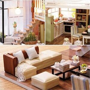 Image 2 - Cutebee 인형 집 가구 소형 인형 집 DIY 소형 집 방 상자 극장 어린이 스티커 DIY 인형 집 E