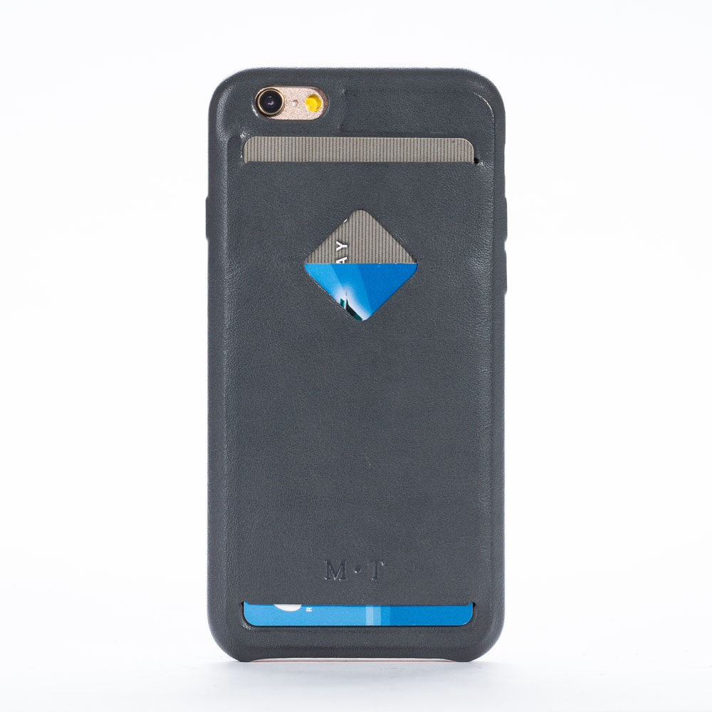 2016 étui coloré en cuir véritable iphone 6 6s avec porte-carte livraison gratuite