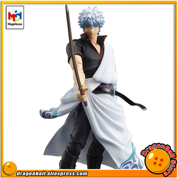 Japan Anime Gintama Original MegaHouse Variable Action Heroes Action Figure - Gintoki Sakata japan anime one piece original megahouse variable action heroes action figure rob lucci