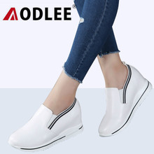 f24f9f3a247 AODLEE Increasing Flat Shoes Women Sneakers Fashion Platform Casual Shoes  Woman Genuine Leather Slip on Ladies