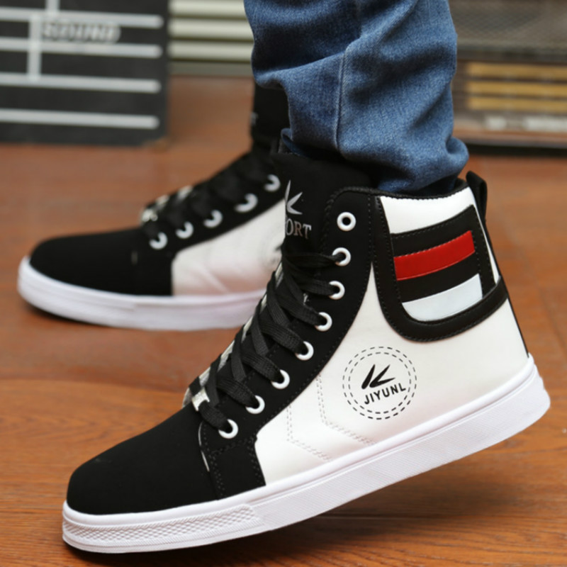 2016 Spring New Men Suede Leather Shoes Fashion High Cut Patchwork England  Style Shoes Flat Comfortable Warm Plush Shoes X574-in Men's Casual Shoes  from ...