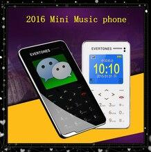 "2016 Evertones V5 teléfono móvil música Mini 1.8 ""Ultra Thin AIEK V5 tarjeta teclado táctil teléfono Celular del bolsillo de Los Niños embroma el Regalo"