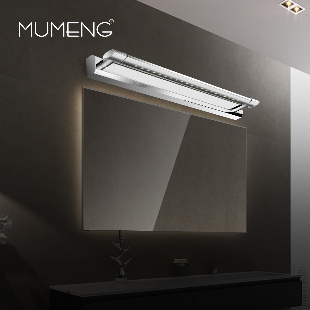 mumeng LED Bathroom Wall Lamp 5W Front Mirror Lights Stainless steel Waterproof Wall Sconce 90-265V Living room Light Fixture стоимость