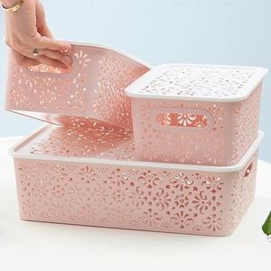 Pink Hollow Plastic Storage Ba