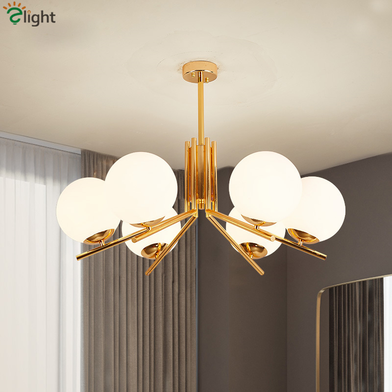 Современная Nordic глобусы светодиодные люстра пластины золота Гостиная люстра Освещение блеск E27 подвесная люстра Освещение в помещении
