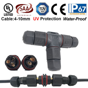 Image 1 - 10pcs 2 3 Pin L20 Waterproof Connector wire 15A 300V cable connector Waterproof Electrical Terminal waterproof cable Adapter