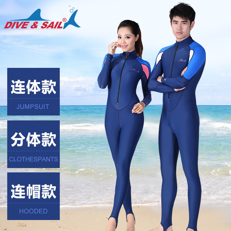 Men&Women High Elastic Diving Suit Multifunction Anti-UV Quick-dry Wetsuit Surfing Snorkeling Equipment One-piece Swimming Suit