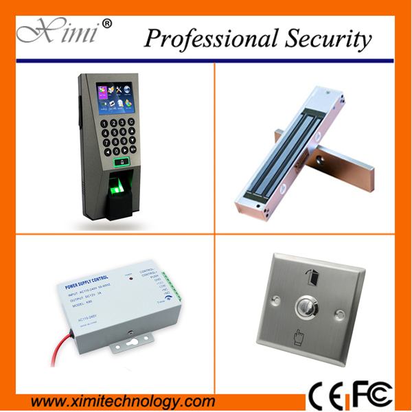 Wiegand reader biometric access controller+power supply,exit button,single electromagneic lock fingerprint access control kits fo 85523 статуэтка пилот the pilot forchino 783843