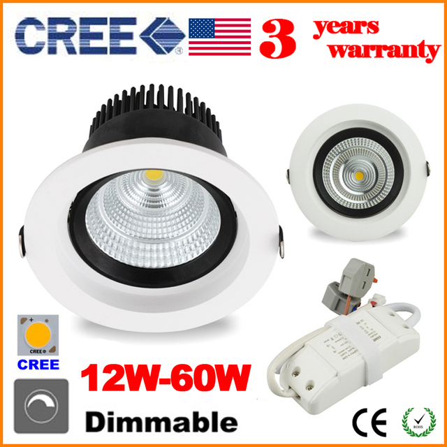 Dhl dimmable led recessed lights retrofit ceiling down light lamp dhl dimmable led recessed lights retrofit ceiling down light lamp rotation ip44 cree cob 12w 20w aloadofball Image collections
