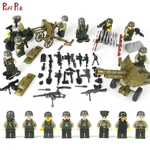 World War 2 US Army Military Soldier Weapon Mini Action Figures Building Blocks Compatible Legoing City Enlighten Children Toys