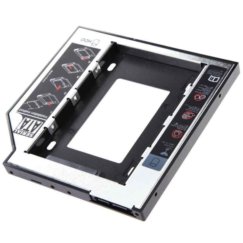 CHIPAL uniwersalny 2nd 9.5mm Ssd Hd SATA 2.5 bardzo ciężko napęd dysku HDD Caddy Adapter Bay na płytę Cd lub Dvd Rom optyczne bay dysk twardy i pojemniki