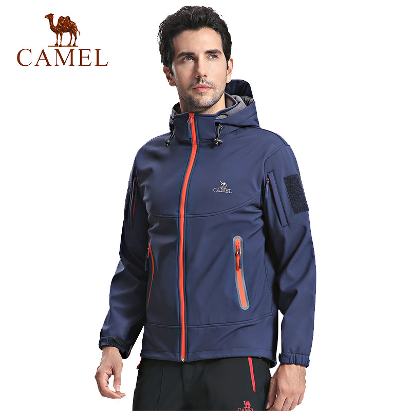 CAMEL Outdoor Men Softshell Jacket Polyester Camping Hiking Jackets Windproof Waterproof Jacket Male Rain Windstopper цена 2017