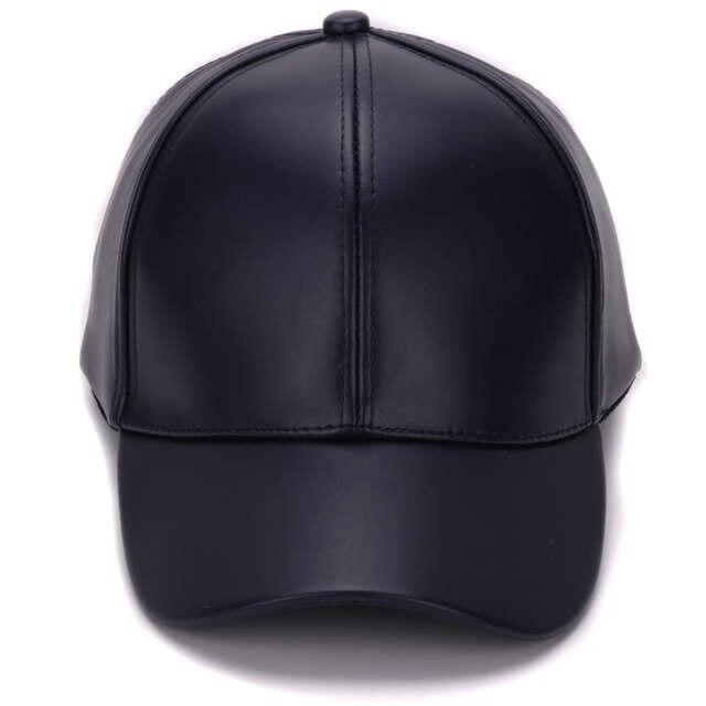7394901c775 Online Shop HATLANDER Classic Plain PU baseball cap fashion blank no logo leather  cap and hat for men and women