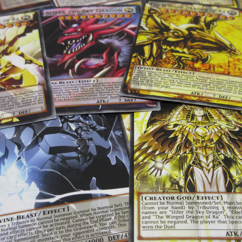 20pcs Yugioh Egyptian God Cards Obelisk Slifer Winged Dragon Of Ra Holactie The Creator Of Light Yu-Gi-Oh! Classic Fullart Card