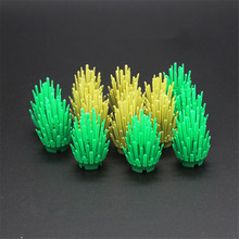 10Pcs/set Mini Bush Tree Plant Grass Shrub Building Blocks Military Weapon MOC Accessory DIY Arms Toys For Children
