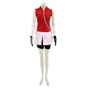 Image 4 - יכול להיות מותאם אנימה נארוטו Haruno סאקורה קוספליי אישה איש ליל כל הקדושים Cos Cosplay תלבושות למעלה + חצאית + מכנסיים + כפפות