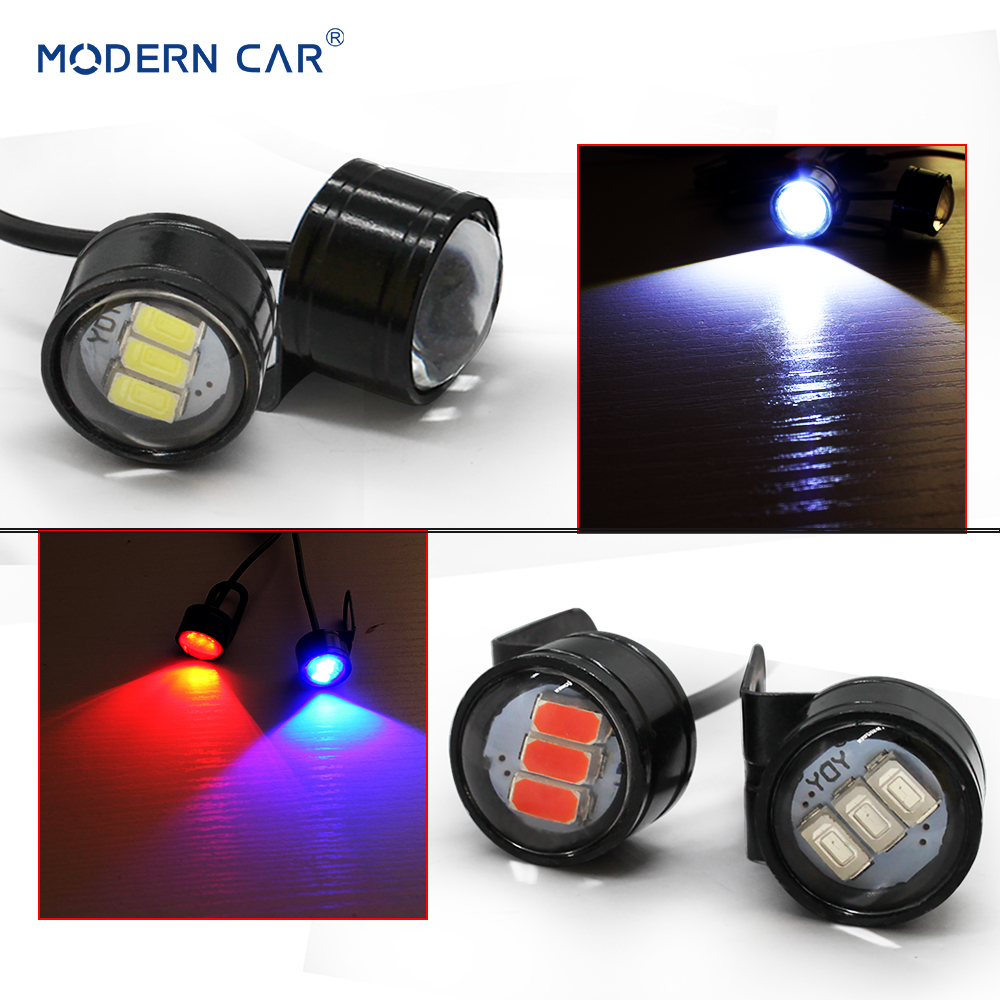 MODERN CAR 10W 1000LM Warning Light  DRL Mirror Mount LED Eagle Eye Lamp Flash Strobe Backup Lights Brake 6000K Spot