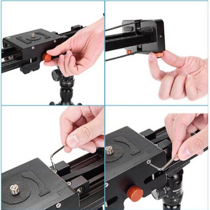 50 см выдвижная камера Видео слайдер Долли трек Стабилизатор скользящее расстояние рельса для canon nikon sony DSLR фото stutio