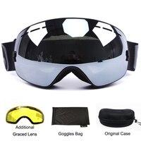 Benice Brand Ski Goggles Double Lens UV400 Anti Fog Spherical Ski Glasses Skiing Men Women Snow