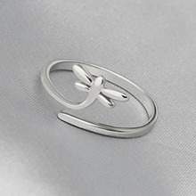 Factory Direct S925 Silver Fashion Wild Butterfly Dragonfly Ring Korean Silver Jewelry Silver Ring Wholesale