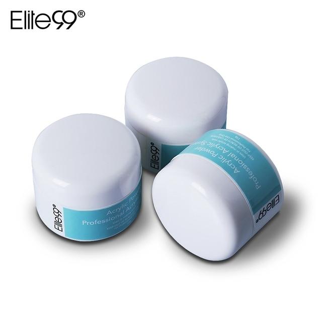 Elite99 3 teile/los Acryl Polymer Builder Pulver 15 gr/teile Maniküre Nagel Kunst Kristall Pulver Rosa Klar Transparent 3 Farben