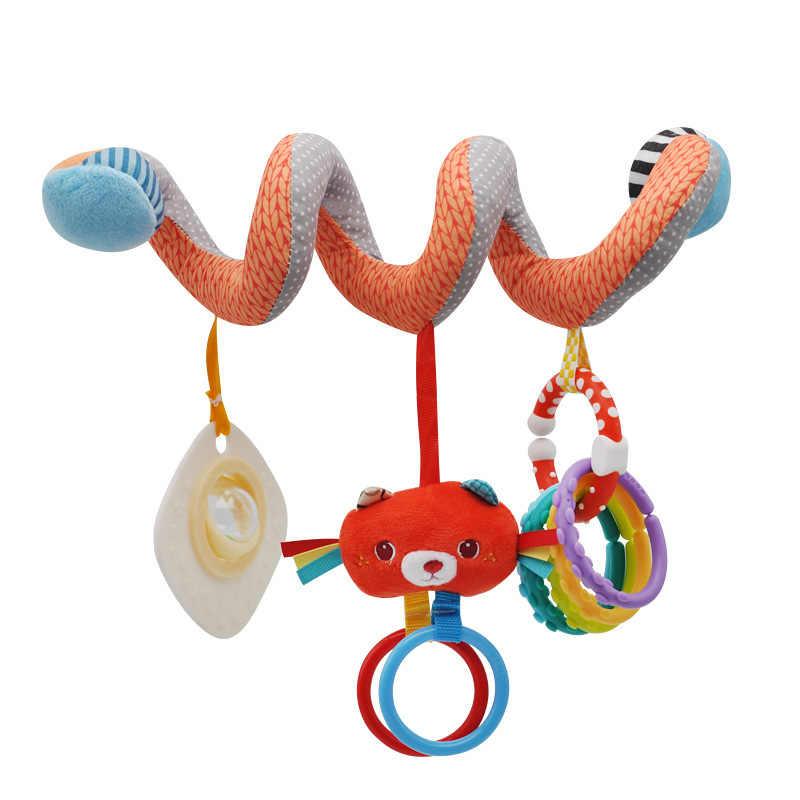 Спиральные детские игрушки плюшевая погремушка животное для коляски кровать автомобильное сиденье развивающие подвесные игрушки 0-12 месяцев погремушки подарок на день рождения