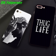 DK 2Pac THUG LIFE Hip hop king phone case black cover for iPhone 11 Pro Max 6 7 8plus 5S X XS XR XSMax For Samsung s10 s9 series