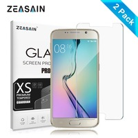 2 Pack Original ZEASAIN Premium Tempered Glass Film For Samsung Galaxy S6 Galaxys6 Touch Screen