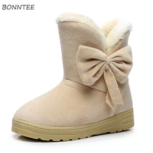 Boots Women Winter Newest Casual Thicker Plush Warm Flock Snow Boot High Quality Non-slip S