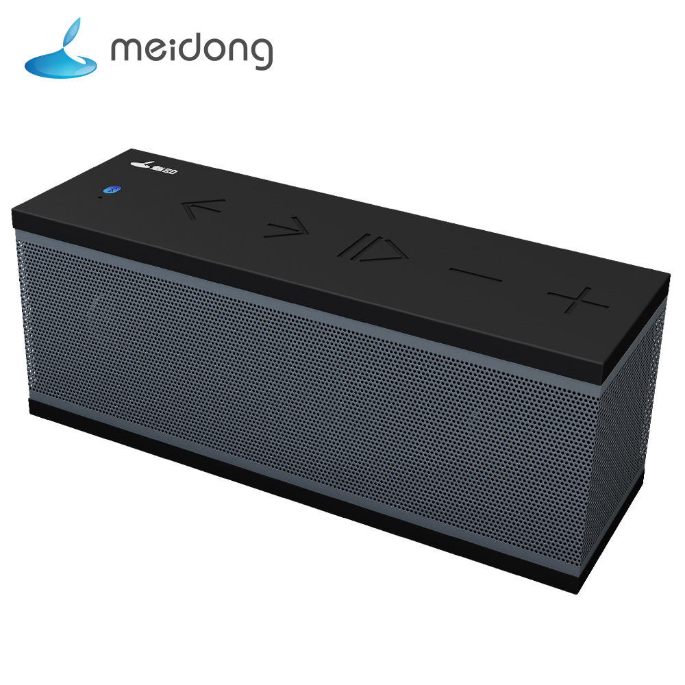 Meidong QQChocolate 8W Portable Bluetooth Speaker Subwoofer Stereo Mini Wireless Speaker with IPX4 waterproof Support TF card mirror design bluetooth speaker wireless mini alarm clock speaker car subwoofer potable wireless speaker support tf card