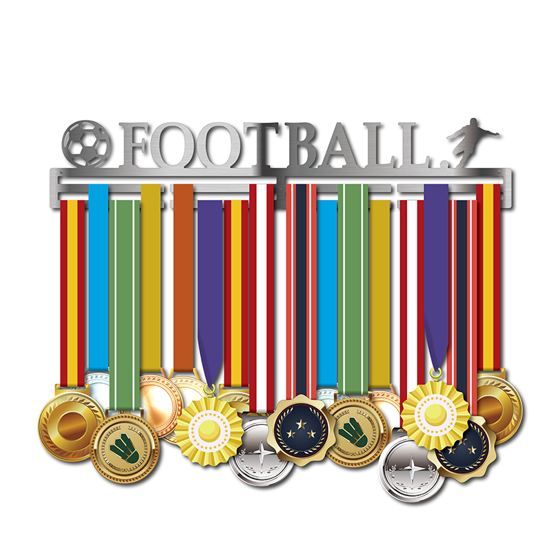 DDJOPH Football médaille cintre médaille affichage support étagères Football médaille rack Sport médaille cintre