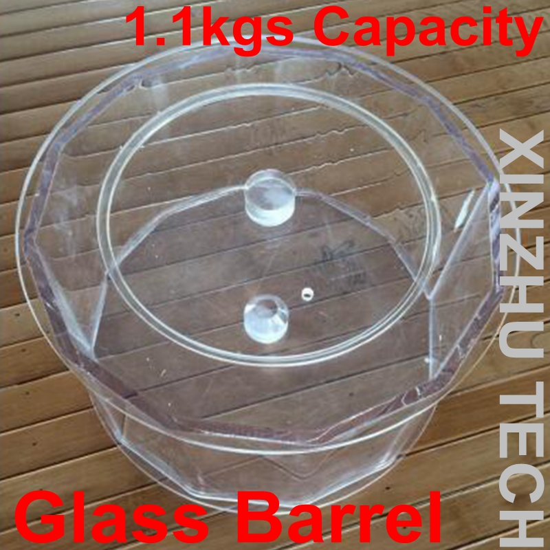 New arrival 1PC Glass Barrels for KT-280A Magnetic Tumbler with 1.1kgs CapacityNew arrival 1PC Glass Barrels for KT-280A Magnetic Tumbler with 1.1kgs Capacity