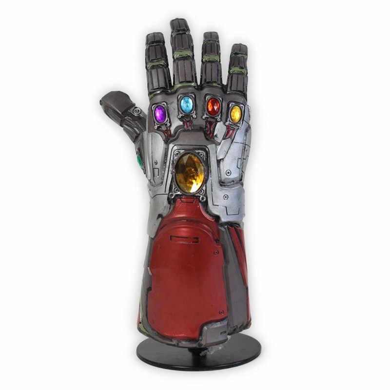 New Avengers Endgame Người Sắt Nhẹ Thanos Vô Cực Nhẹ Người Sắt Nano Nhẹ Giáp Tony Stark Cosplay Găng Tay Cao Su