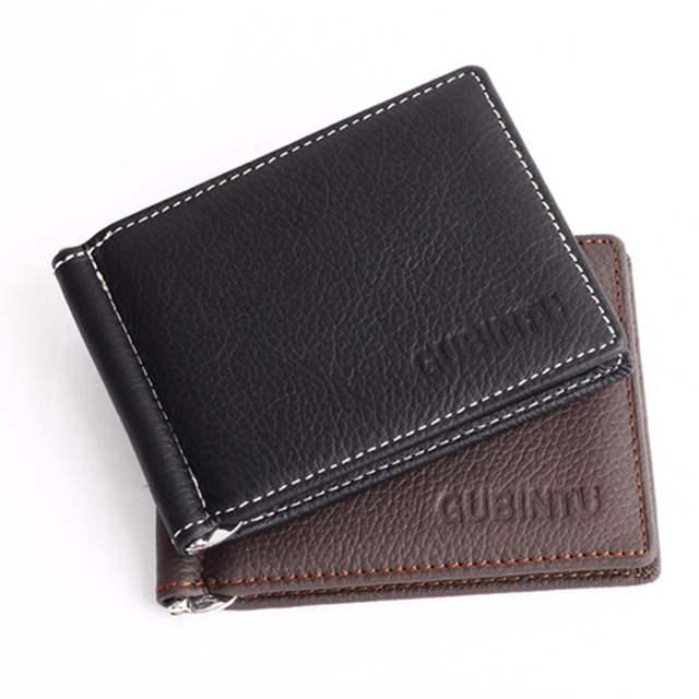 6ba9093ae32f2 Wallet men soft leather money clip with zipper coin pocket slim men purse  money holder cheap