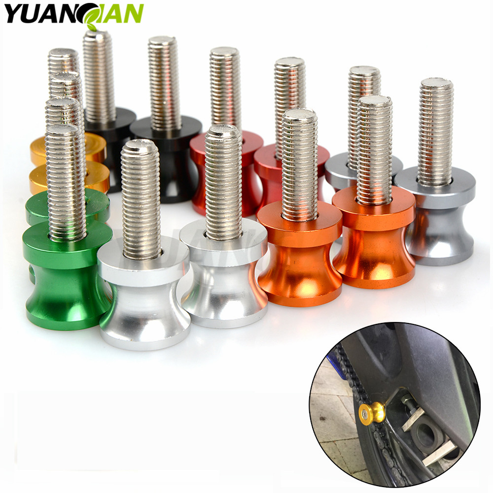 цены 6mm 8mm 10mm Motorcycle part CNC Aluminum Swingarm Spools Slider For benelli 300 BJ300 600 BN600 BN300 TNT Sport 1130 mt09 07