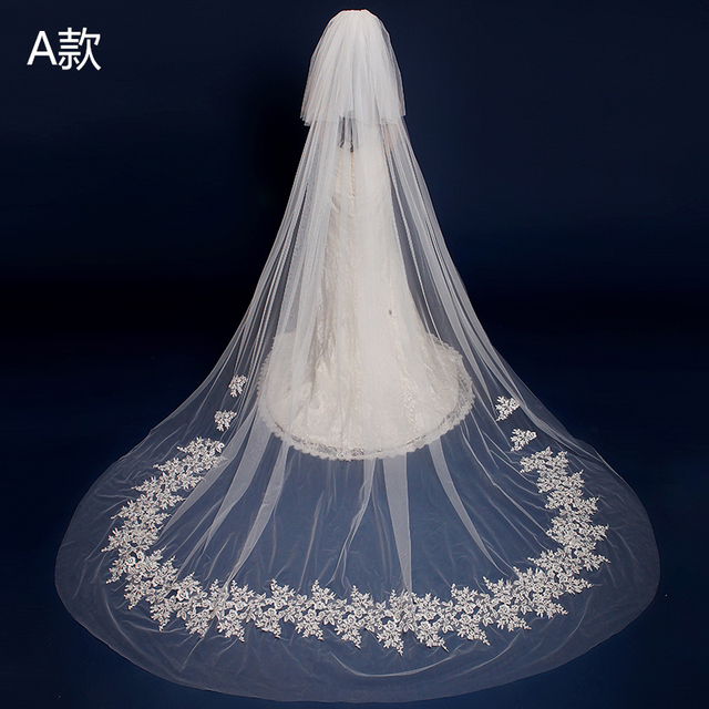 Free shipping Hot Sale High Quality Wholesale Wedding Veils Bridal Accesories Lace Bridal Veils