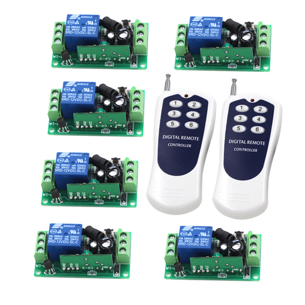цена на MITI-DC 12V 10A 1CH 315MHZ Wireless RF Remote Control Switch Transmitter+ Receiver Free Shipping SKU: 5131