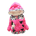 Clothing winter coat  Girls jacket for newborn baby girls brand cotton thick warm clothes hooded outerwear kids cartoon clother