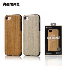Для iPhone 7 7 Plus Remax Ретро Дерево Кейс Бамбука Назад крышка Для iPhone 7 Plus Wood Skin Мягкий Роскошный Телефон Случае