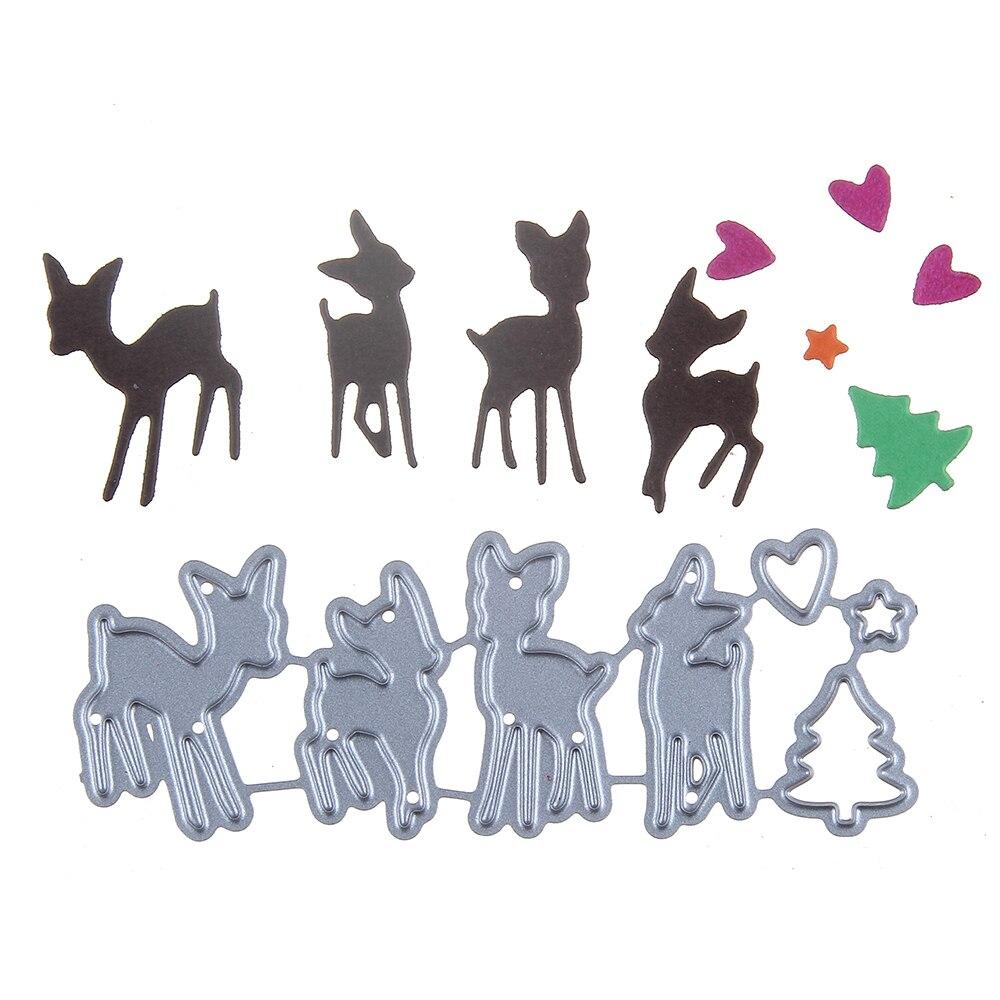 81*30mm scrapbooking DIY frame love Shape Metal steel cutting die small Deer Shape Book photo album art card Dies Cut