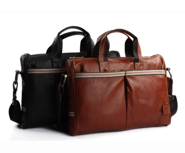Free Shipping!2013 Latest Men First Class Genuine Leather laptops brand new Brifecases(BLACK/BROWN)