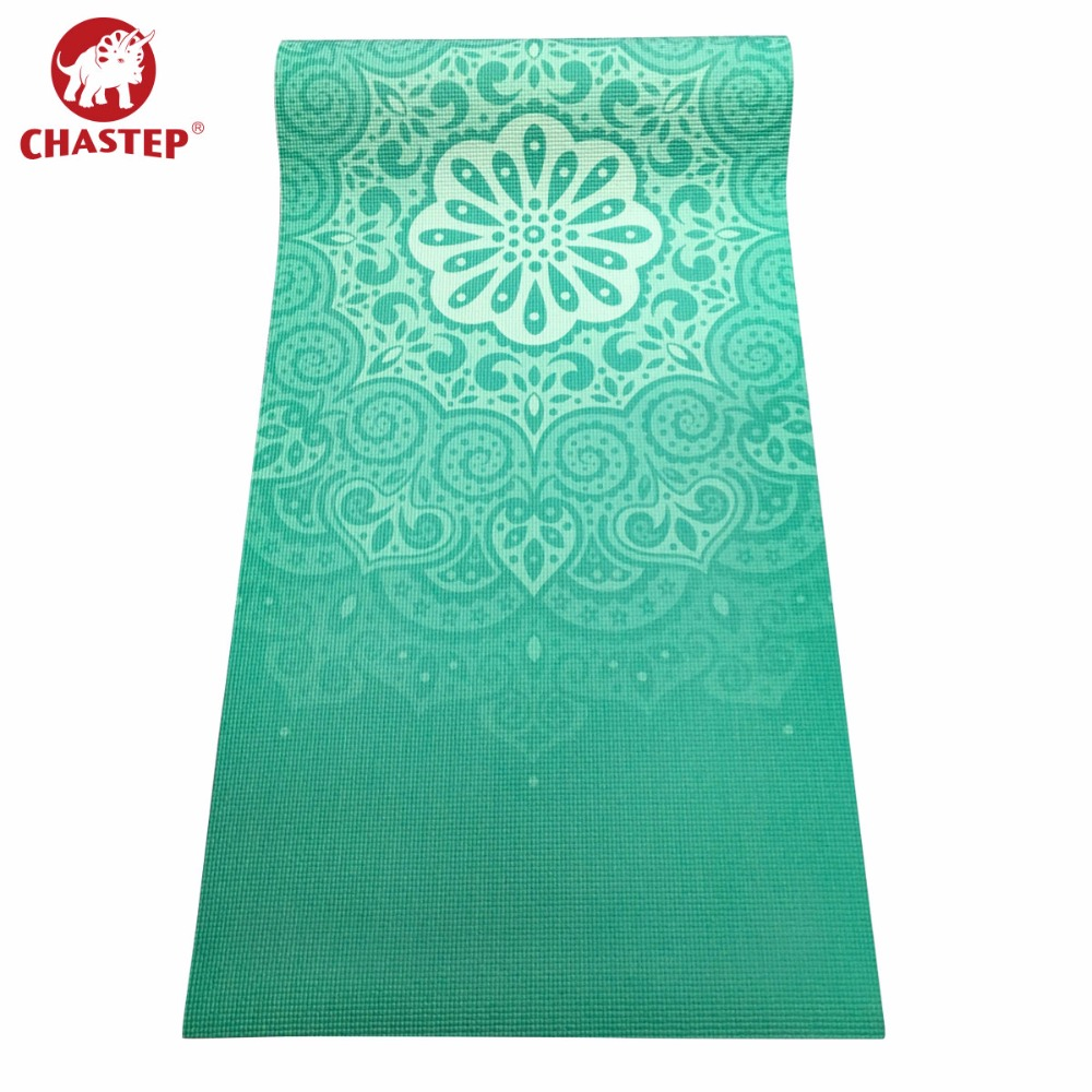 Chastp183x61cmx 6mm Thick PVC Yoga Mats Fitness Environmental Tasteless Lose Weight Exercise Fitness Yoga Gymnastics Mats Indoor hot healthy household bicycle super mute younger dynamic magnetic bike fitness equipment pedal bicycle exercise to lose weight
