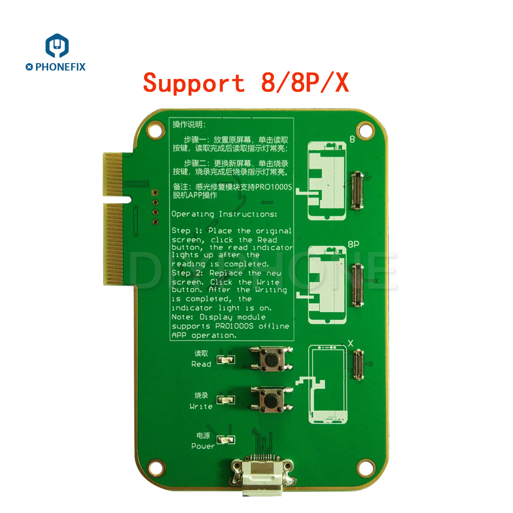 Image 4 - JC Pro1000s LCD Screen Photosensitive Data Programmer Phone Photoreceptor Repair Read Rewrite Backup Tool for iPhone 8 8plus X-in Hand Tool Sets from Tools
