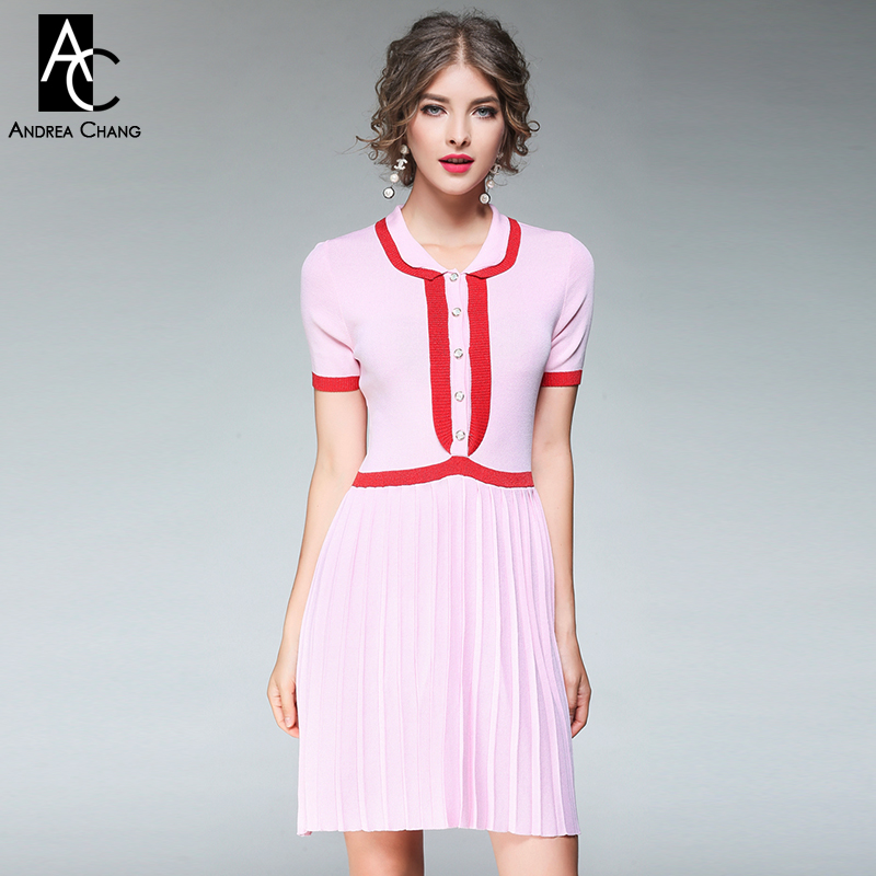 Red cotton dress with white collar cheap