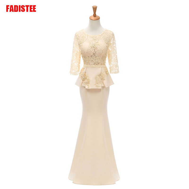 FADISTEE New Arrival Elegant Long Dress Mermaid Simple Mother Of The Bride Plus Size Vestido De Noiva Robe De Mariee Pearls