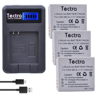 Tectra 3Pcs NB 4L NB4L Bateria LCD USB Charger For Canon PowerShot SD40 SD30 SD200 SD300