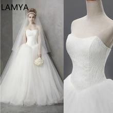 Wedding Dress 2019 Cheap Celebrity Strapless Vintage Tulle Bridal Ball Gown Organza Lace Dresses dubai bridal dresses