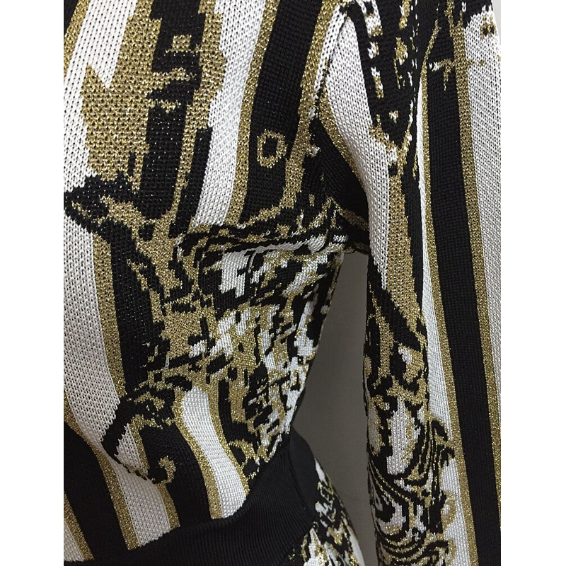 Broderie En Sexy Nouvelle Party Élégante V Robe Automne Mode Manches Longues Tricoter Multi Robes À 2018 Cou Celebrity Gros 0PSxRBq
